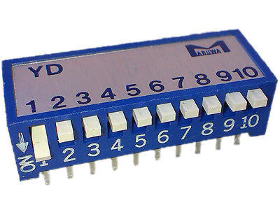 Martin 05500002 DIP switch, Piano Type, 10 bit D, YD-10Z