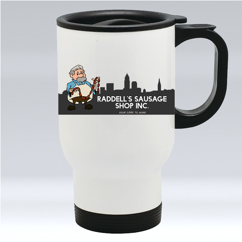 Raddell's Sausage Shop Travel Mug