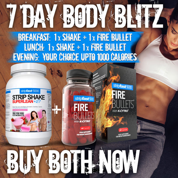 FIRE BULLETS® Fat Burners with K-Cytro® (1 x Month Supply)