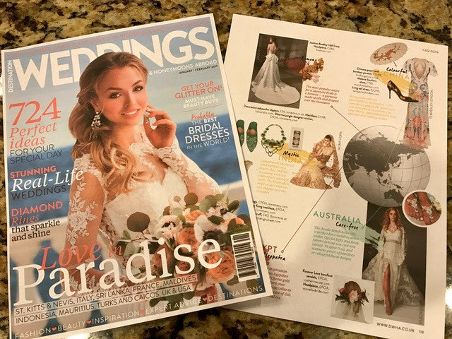 """DESTINATION WEDDINGS AND HONEYMOONS ABROAD"" magazine"