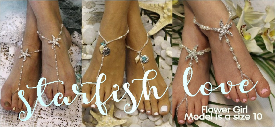 Starfish barefoot Sandals to adore for your beach wedding