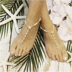 starfish rose gold barefoot sandals