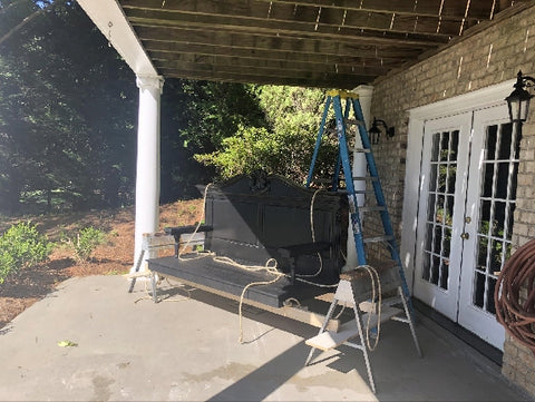 life with Trophy husband - diy porch swing