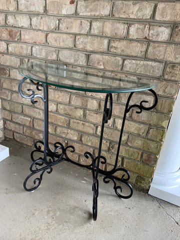 diy black metalpatio table