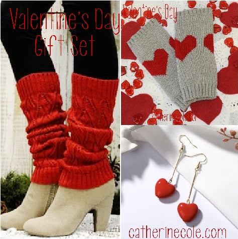 Valentine's day leg warmers women gifts