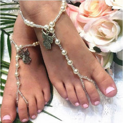 angel flower girl barefoot sandals