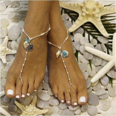 mermaid starfish barefoot sandals