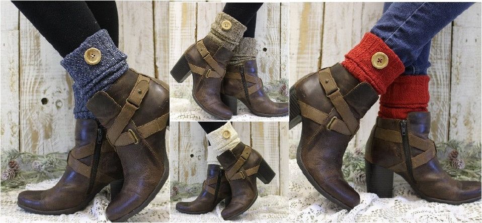 Boot cuffs - boot toppers - cuffs for boots - knit boot cuffs