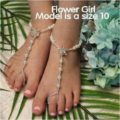 flower girl starfish foot jewelry