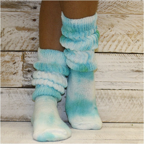 tie dye cotton slouch socks