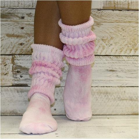 tie dye fashion clothing socks women pink