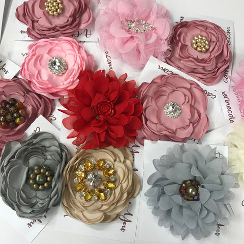 silk flower corsage pins diy