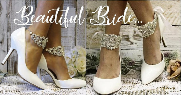 wedding anklets - bridal ankle bracelets - wedding shoe accessories