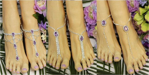 lavender footless sandals - lilac  barefoot sandals