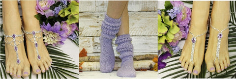 catheirne cole lace socks and barefoot sandals