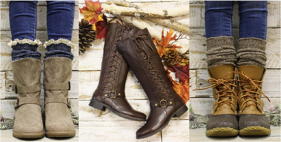 leather boots for women -Free style boots