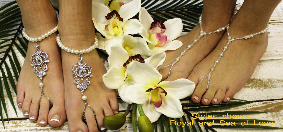 Barefoot Sandals And Bridal Foot Jewelry For Your Beach Wedding