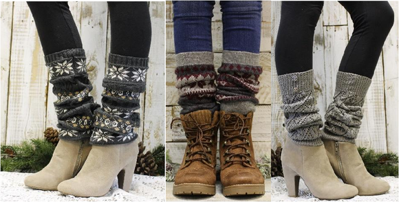 Leg warmers for boots - Leg warmers knit winter