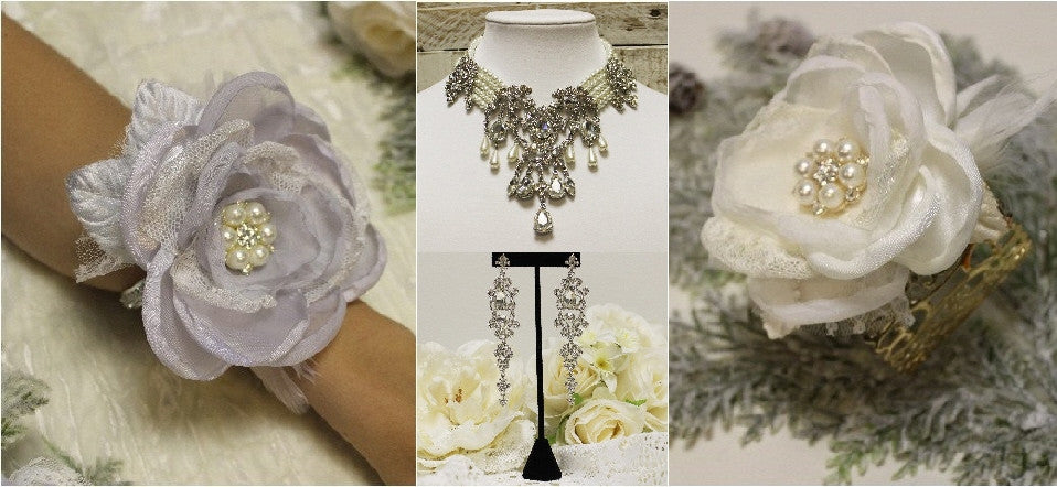 wedding jewelry - bridal necklace - rhinestone jewelry
