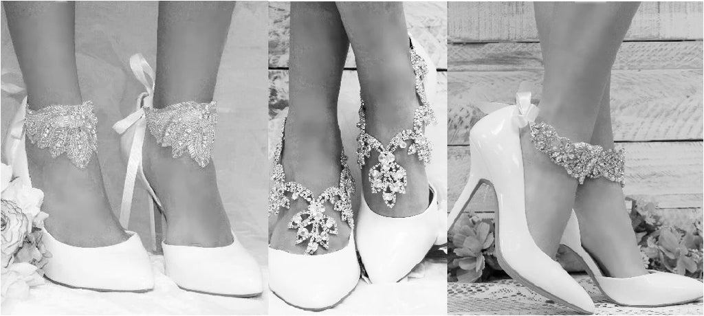 wedding ankle bracelets - Bridal foot cuffs shoes