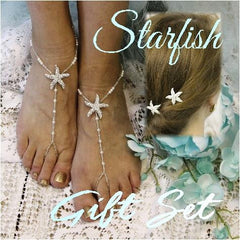 starfish hair pins - starfish barefoot sandals
