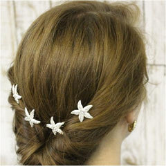 starfish hair pins - starfish bridal hair pins