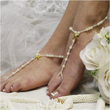 starfish barefoot sandals - starfish - key west - wedding - beach - pearls - beads