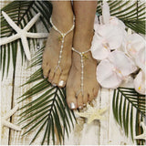 starfish barefoot sandals - starfish - jewelry - wedding - beach - pearls - beads