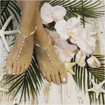KEY WEST starfish barefoot sandals - silver - custom wedding footless sandals etsy