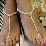 STARFISH rose gold barefoot sandals wedding - pearl - Catherine Cole Studio  - 4