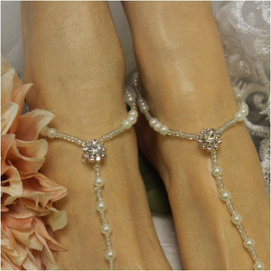 rose gold footless sandals - rose gold wedding jewelry