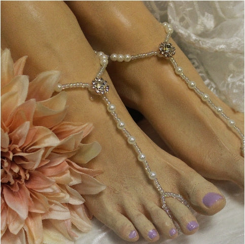 rose gold footless sandals bride