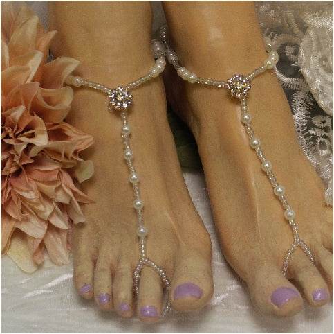 rose gold feet jewelry wedding