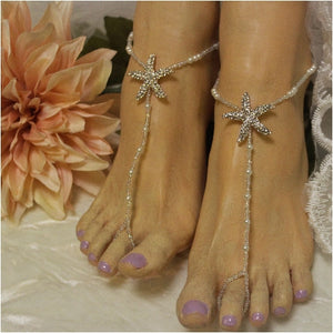 rose gold bridal foot jewelry starfish