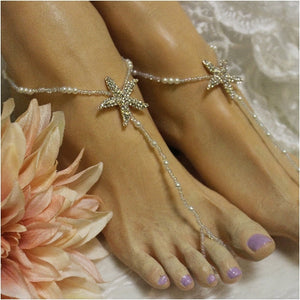 STARFISH barefoot sandals wedding - rose gold  footless  sandles women etsy best