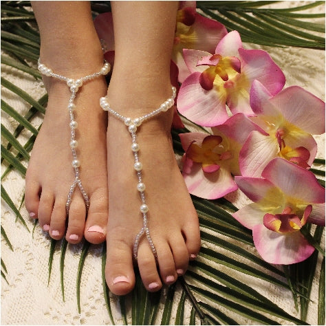 pearl handmade barefoot sandals kids girls etsy best quality
