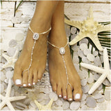 CRYSTAL  beaded barefoot sandals - beaded barefoot sandals - crystal wedding barefoot sandals