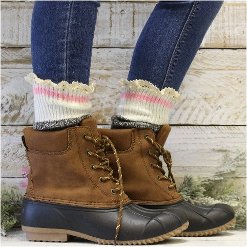 cabin striped socks women's slouch socks FALL best