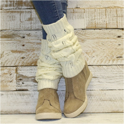leg warmers ivory workout 80's ladies winter quality