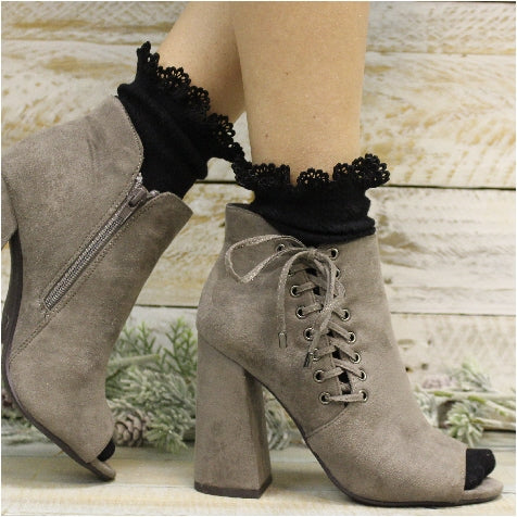 black lace socks women - fall socks for booties