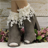 long lace socks - ankle boot socks