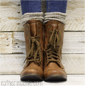 ESSENTIALS boot slouch socks - oatmeal - slouch socks women USA best quality