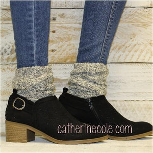 ESSENTIALS boot slouch socks - salt n pepper - Catherine Cole Studio