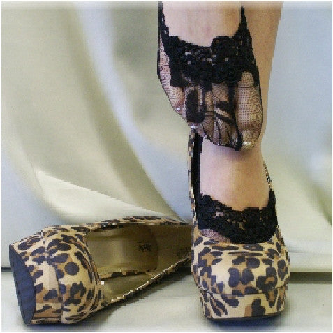 black  lace socks - black socks for heels - black wedding socks