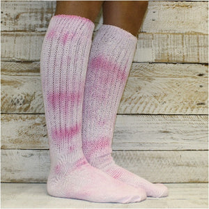 thick tie dyed slouch socks scrunchy  hooters etsy nike