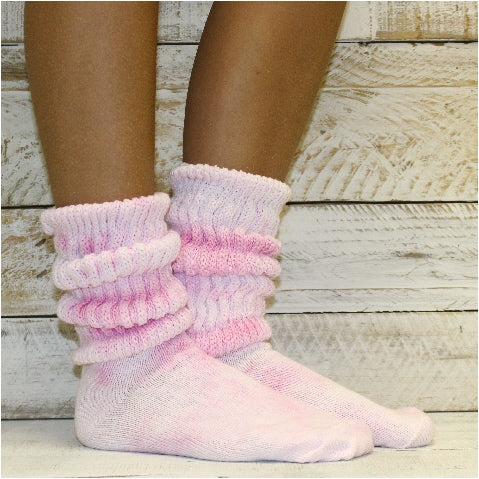 80's 90's tie dyed slouch socks cotton women