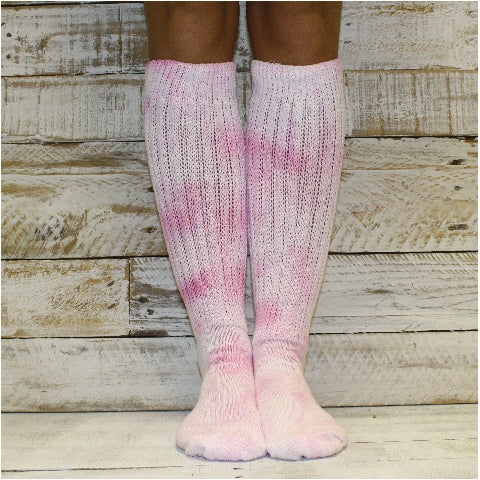 Hooter's slouch socks pink tie dye hooters etsy