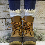 ORGANIC  lace boot socks - Carolina blue - best pact 100% organic bamboo socks etsy