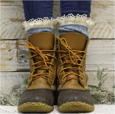 organic boot socks cotton women USA  - Catherine Cole Studio