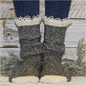 organic socks eco socks boot socks  - women's 100% sustainable bamboo socks